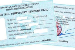 Thủ tục xin cáp thẻ tạm trú cho người nước ngoài tại Việt Nam